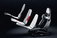 Porsche 3D-printed bodyform full-bucket seat