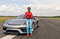 Talented teen Chloe Chambers sets Guinness World slalom record in Porsche 718 Spyder