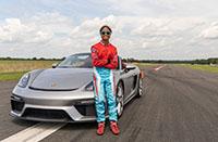 Talented teen Chloe Chambers sets Guinness World slalom record in Porsche 718 Spyder